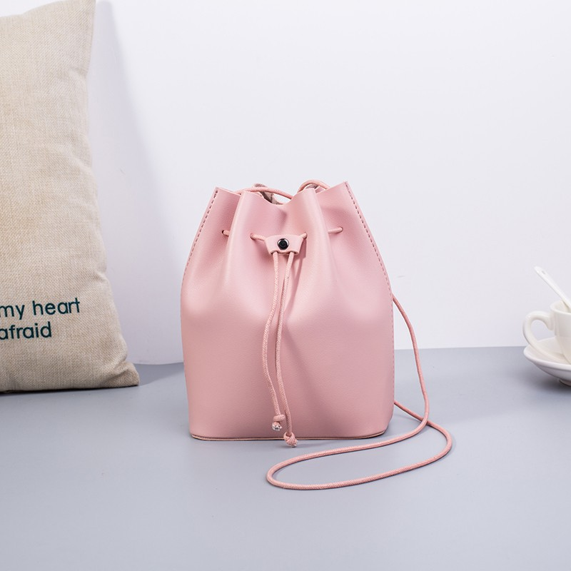 18aa9920d7a Sling Shoulder PU Leather Bag Small Cute Tote Bag