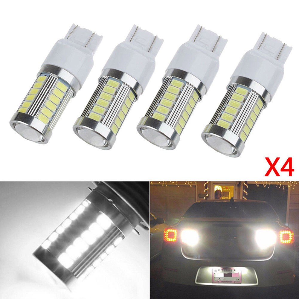 5 X T20 LED 7440 7443 33SMD Strobe LED Bulb Car Brake Reverse DRL Fog Light Lamp