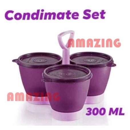 Tupperware Blossom Condimate Set 300ml (3pcs)