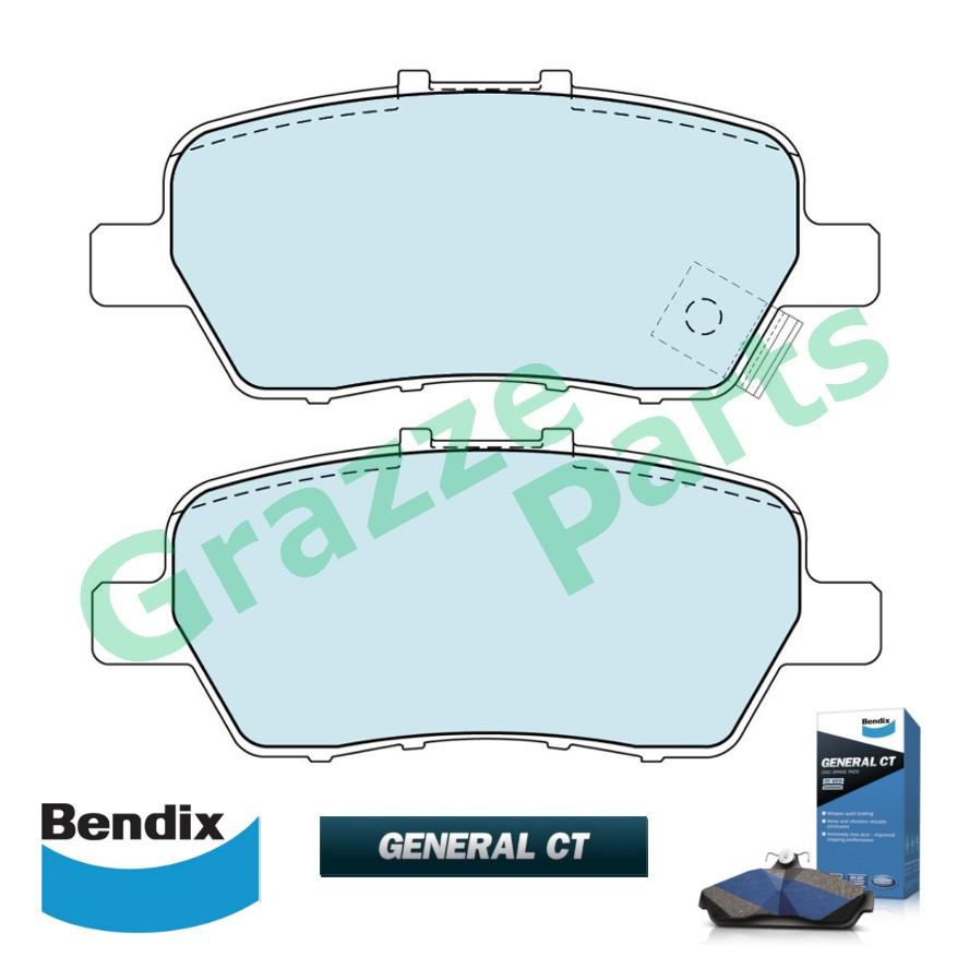 Bendix General CT Brake Pad Rear DB1847 - Honda Elysion Odyssey RB1 RB3 Stream