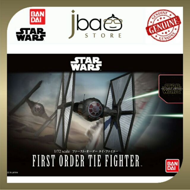 Bandai Star Wars First Order Tie Fighter 1/72 scale Model Kit The Mandalorian