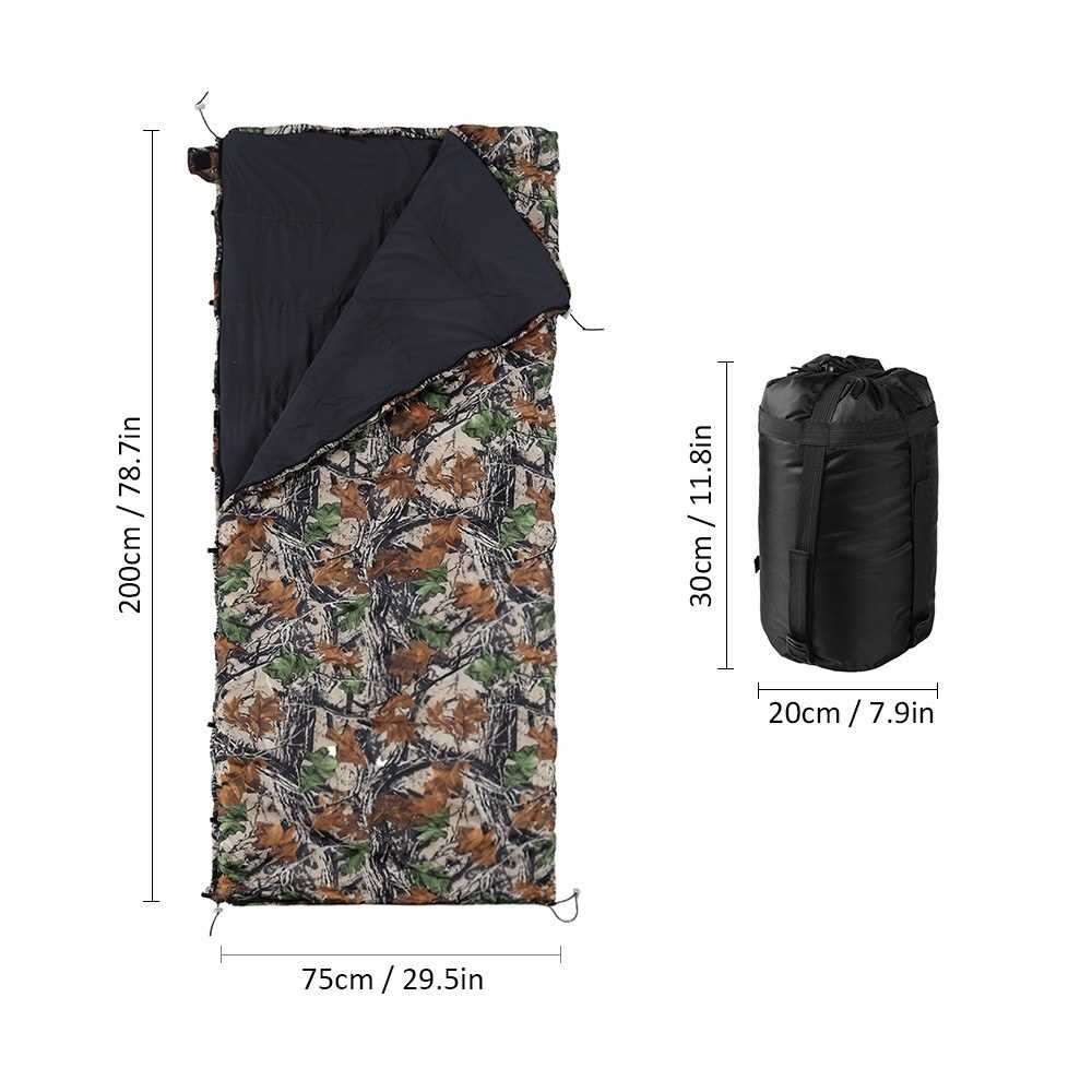 Hammock Underquilt. Lightweight and Packable. (Camouflage)