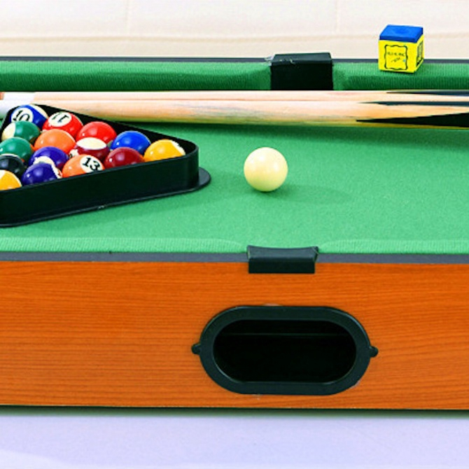 "20"" Wooden Portable Compact Mini Tabletop Pool table Snooker Game Billiards Arcade Room Desk Playfield Sports Indoor Com"