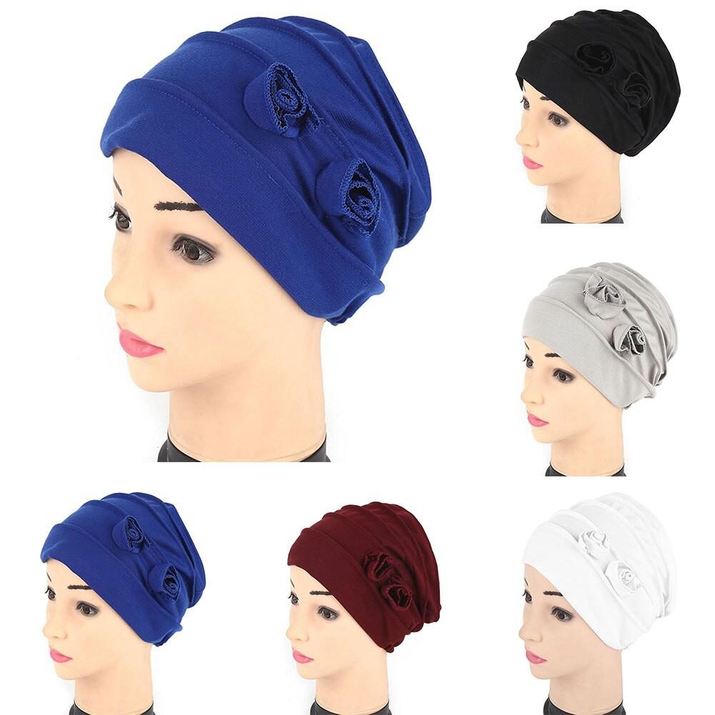 9fe173268 Simeier Women Cotton Lace Turban Spring Summer Hairnet Muslims Flower Chemo  Caps