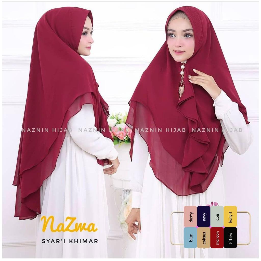 Khimar Syari Azka Hijab Shari Tutorial Jilbabers Khimar Pet Hijab Shopee Malaysia