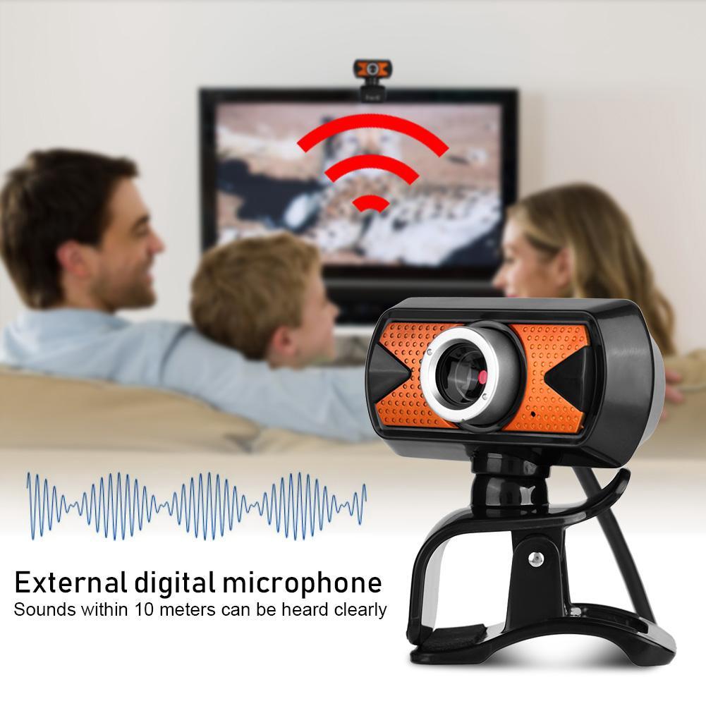 USB2 0 Webcam 16M Pixel HD Web Camera +External Microphone