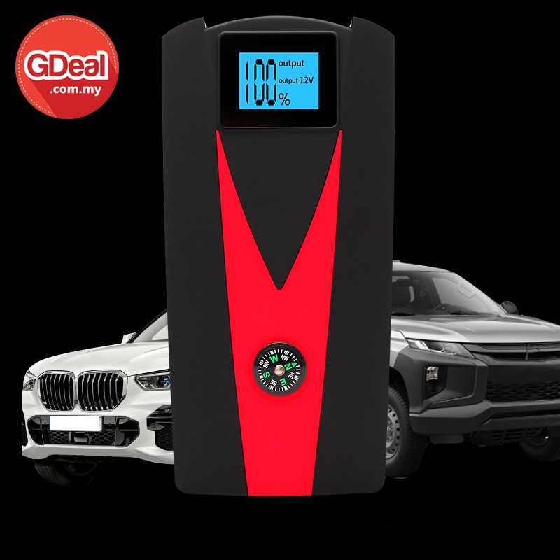 GDeal Multi Functional 12V Emergency Car Mini Charging Jump Starter Power Supply Bekalan Kuasa Kereta بكلن كواس كريتا
