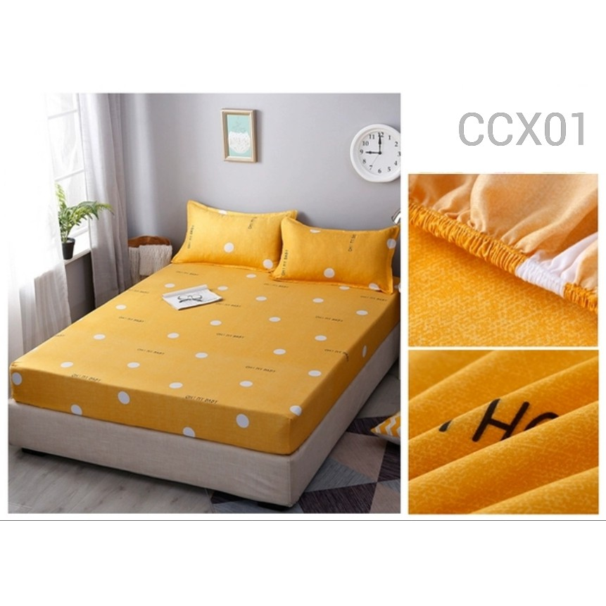 CADAR FITTED BEDSHEET WITH PILLOWCASE SINGLE QUEEN SIZE