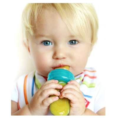 Nuby: Mini Squeeze Feeder With Hygienic Cover - Green
