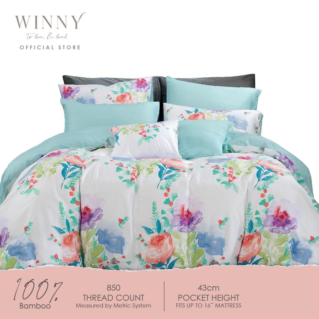 Winny Benevolence Bamboo Quilt Cover Set-850TC (SUPER SINGLE/ QUEEN/ KING)
