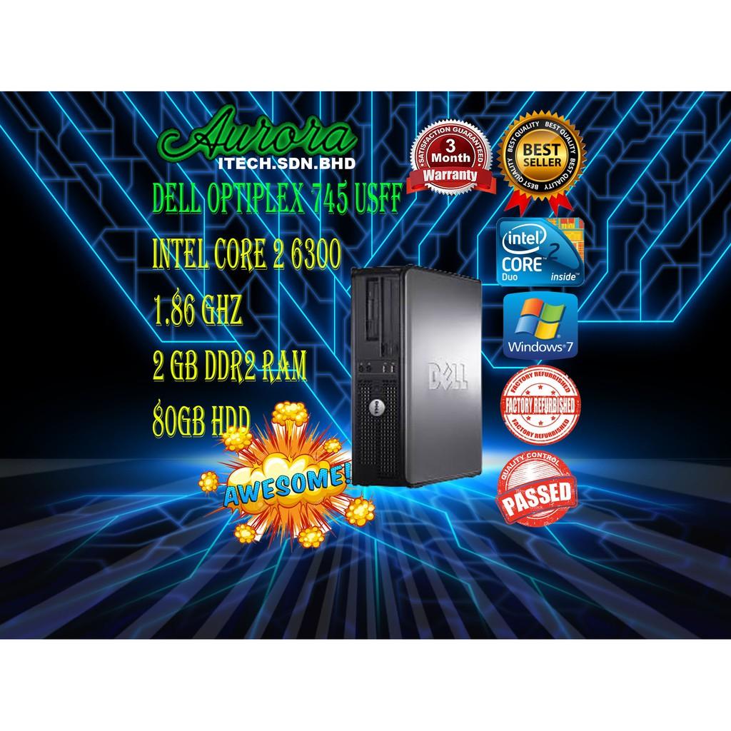 (REFURBISHED)Dell Optiplex 745 Sff / Intel core 2 6300 1 86 ghz / 2 GB DDR2  ram