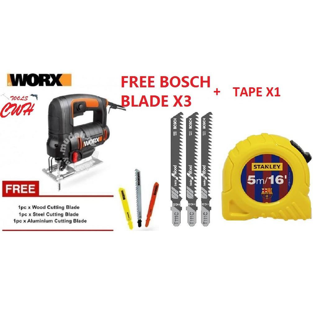 WORX WX477 550W Jigsaw Corded JIG SAW WOOD METAL ALLUMINIUM PVC CUTTER WX 477 4327 MIKASO GST700 KS600E KS701PE WATELY