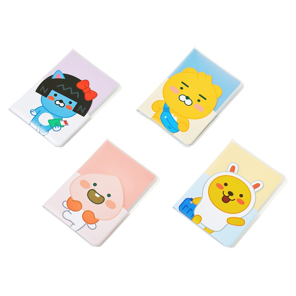 Kakao Friends Nu Official Character Clear Passport Cover Holder Case