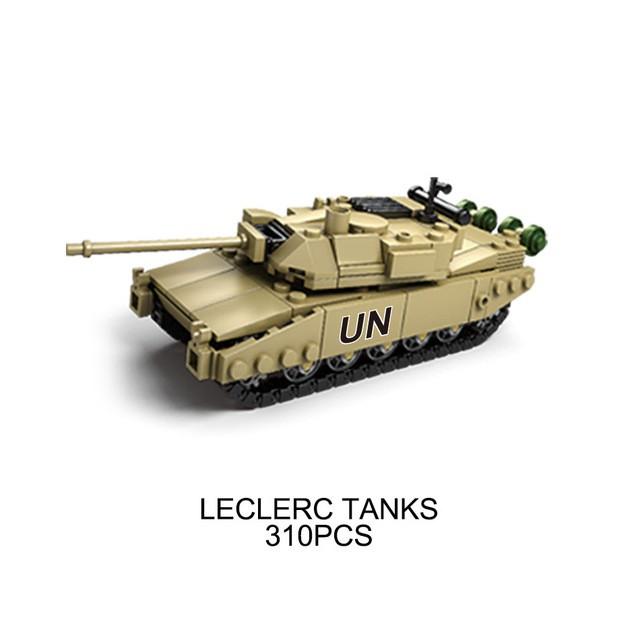 Lego 4in1 Model Building Army Assemblage Blocks Set Tanks Leclerc Compatible 4Aj35RL