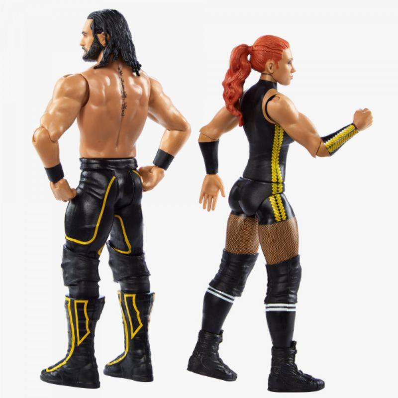 WWE Battle Pack Serie 66-Becky LYNCH /& Seth Rollins Nuovo di Zecca *