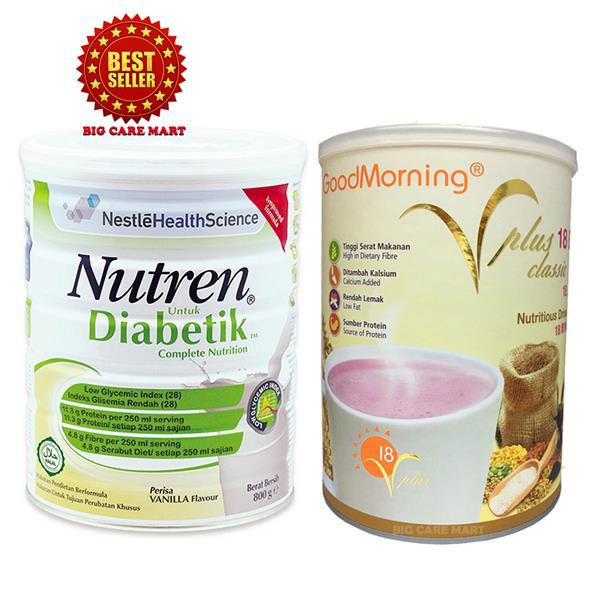 Nestle Nutren Diabetic 800g + Good Morning Vplus 1kg