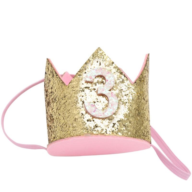 1PC Baby Boys Girls Birthday Party Princess Blue Crown Tiara Manual  Headwear