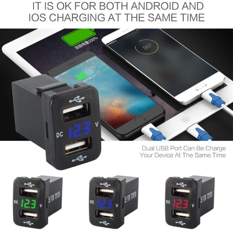 Lonio Black/Blue Rapid 3.1A Dual USB Car Charger Suitable For Oppo R9S/Oppo R9S Plus Car Electronics & Accessories