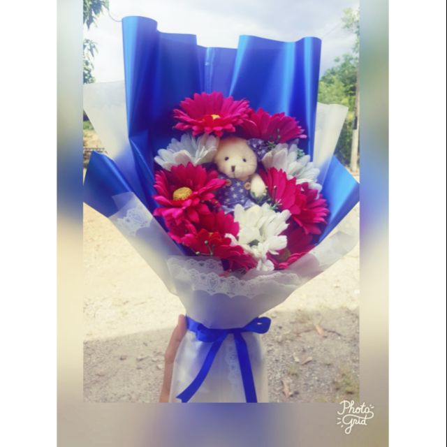 Flower Bouquet Birthday Gift Graduation Bouquet Artificial Flower Shopee Malaysia