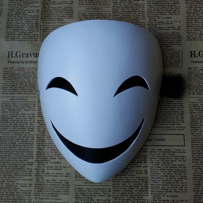 Japanese Anime Black Bullet kagetane hiruko Cosplay Prop Mask Halloween mask