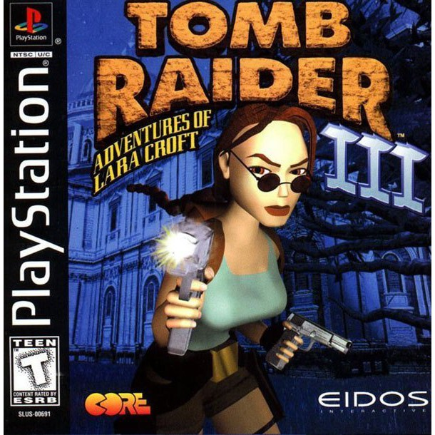 PS1 Game Tomb Raider III Adventures of Lara Croft, Action Adventure Game, English version / PlayStation 1
