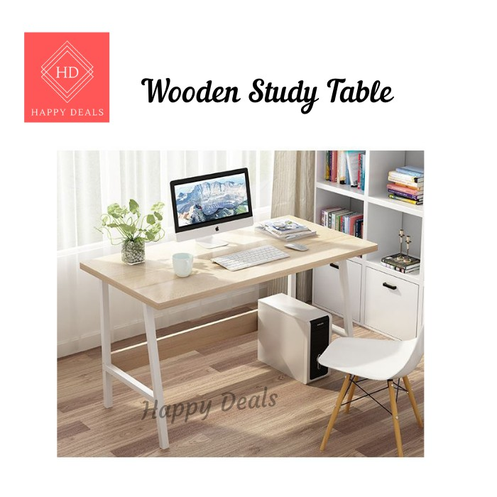 Modern Study Desk Computer Desktop Laptop Table for Working From Home Anti-Slip Student Writing Gaming Desk