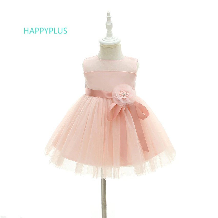 257fc7e2c0f30 Wholesale Pink Infant Dresses for Baby Girls 1 Year Floral Baby Girl Dress