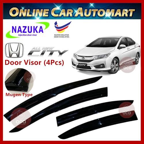 NAZUKA Honda City 14-19 Door Visor Mugen Design AirPress For Car Window(4pcs)