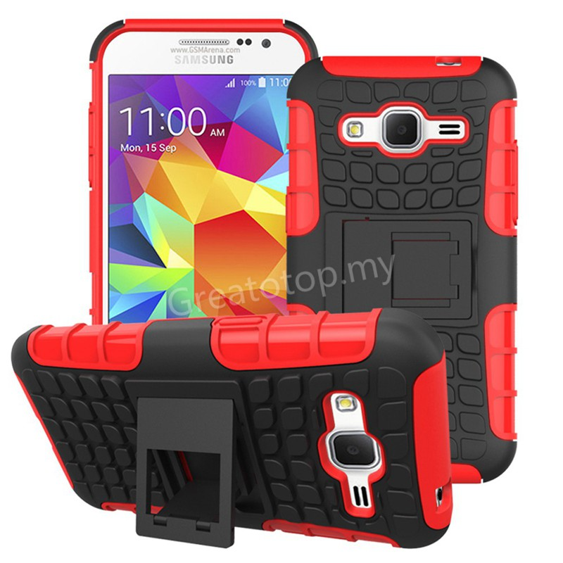 Samsung Galaxy Core Prime G360 Dual Layer Stand Case Cover