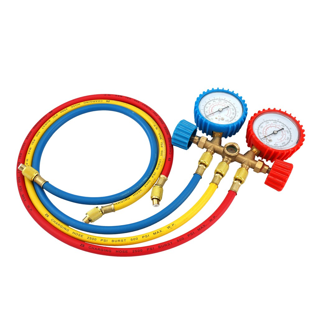 Manifold GaugeRefrigerant Manifold Gauge Set Air Conditioning Tools with  Hose an