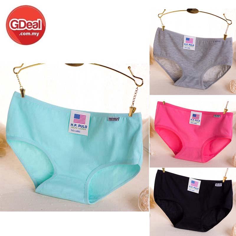 GDeal 4pcs Cotton Underwear Mid Waist Women's Underwear