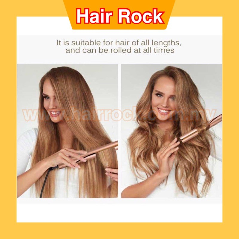 2 in 1 Hair Curler Straightening /Roller Styler Curler Electric Hair Straighteners