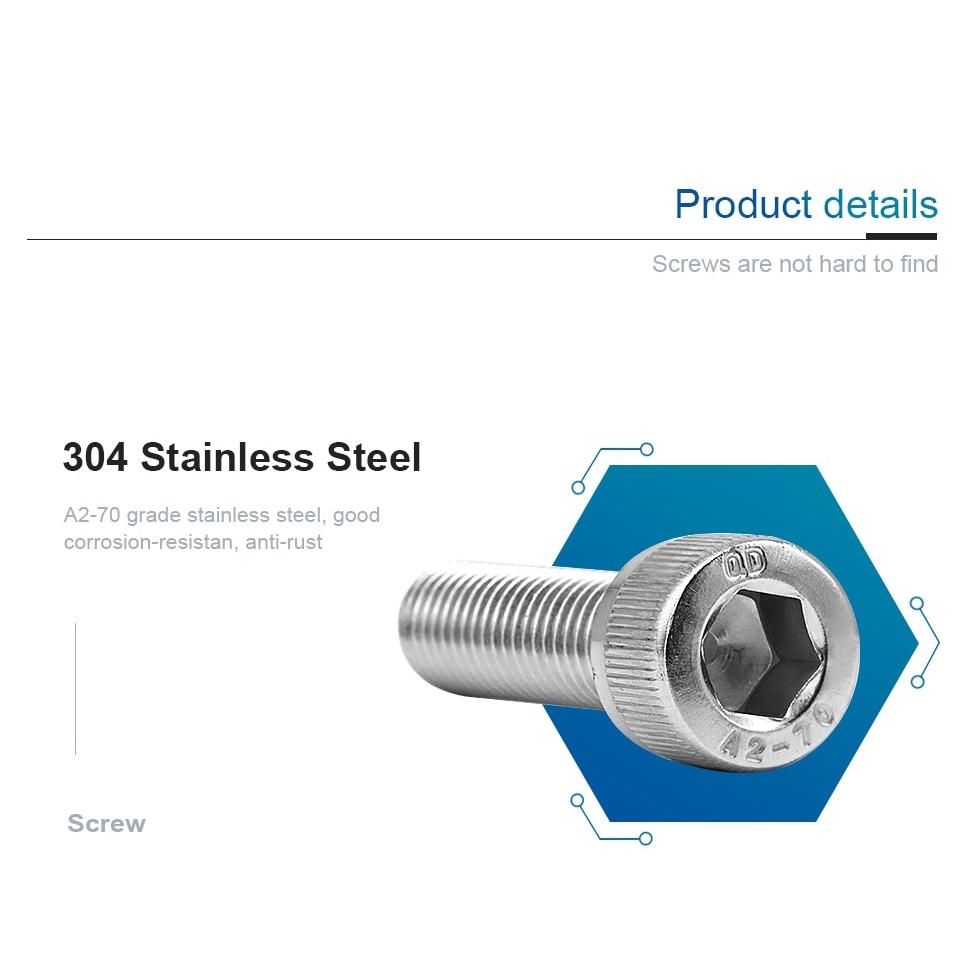 Parts Express Stainless Steel Eye Bolt M10 x 35mm 3 pcs Eyebolt
