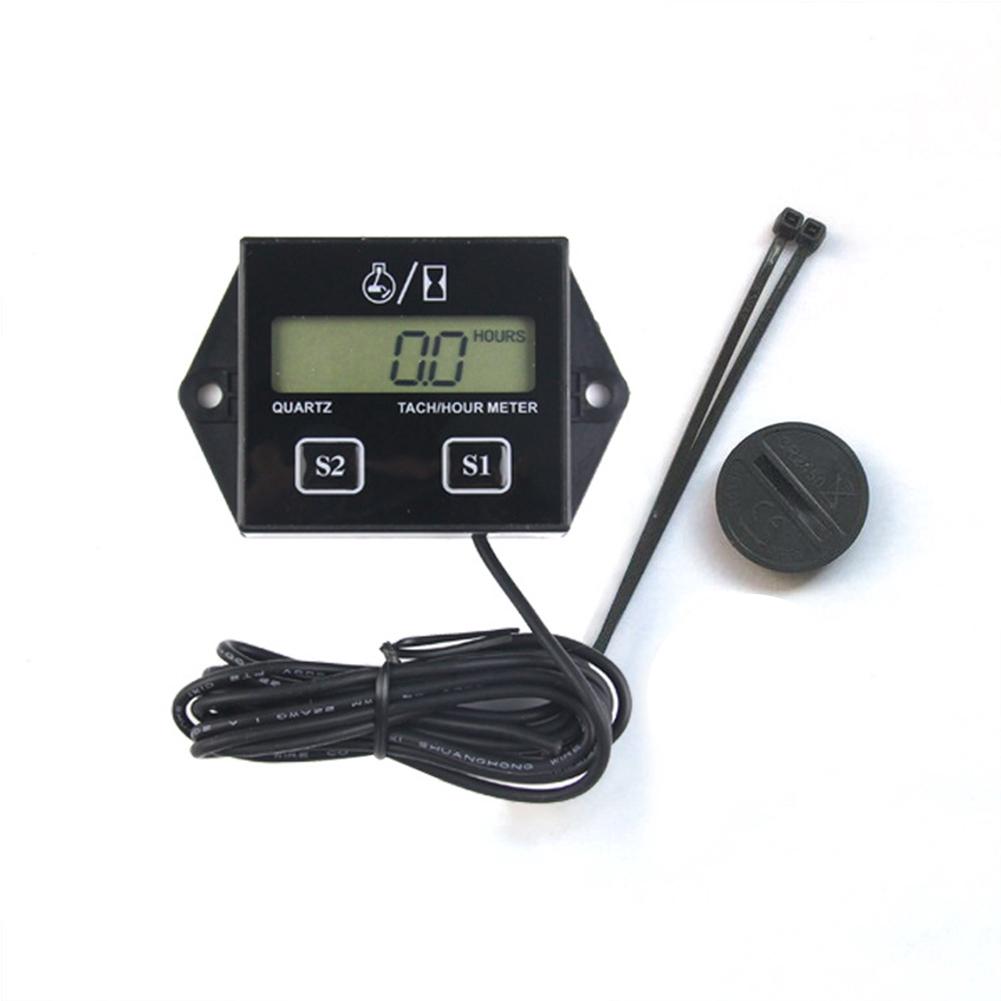 Marine Spark Engine Motor Tiny Tach Digital Hour Meter / Tachometer Gauge