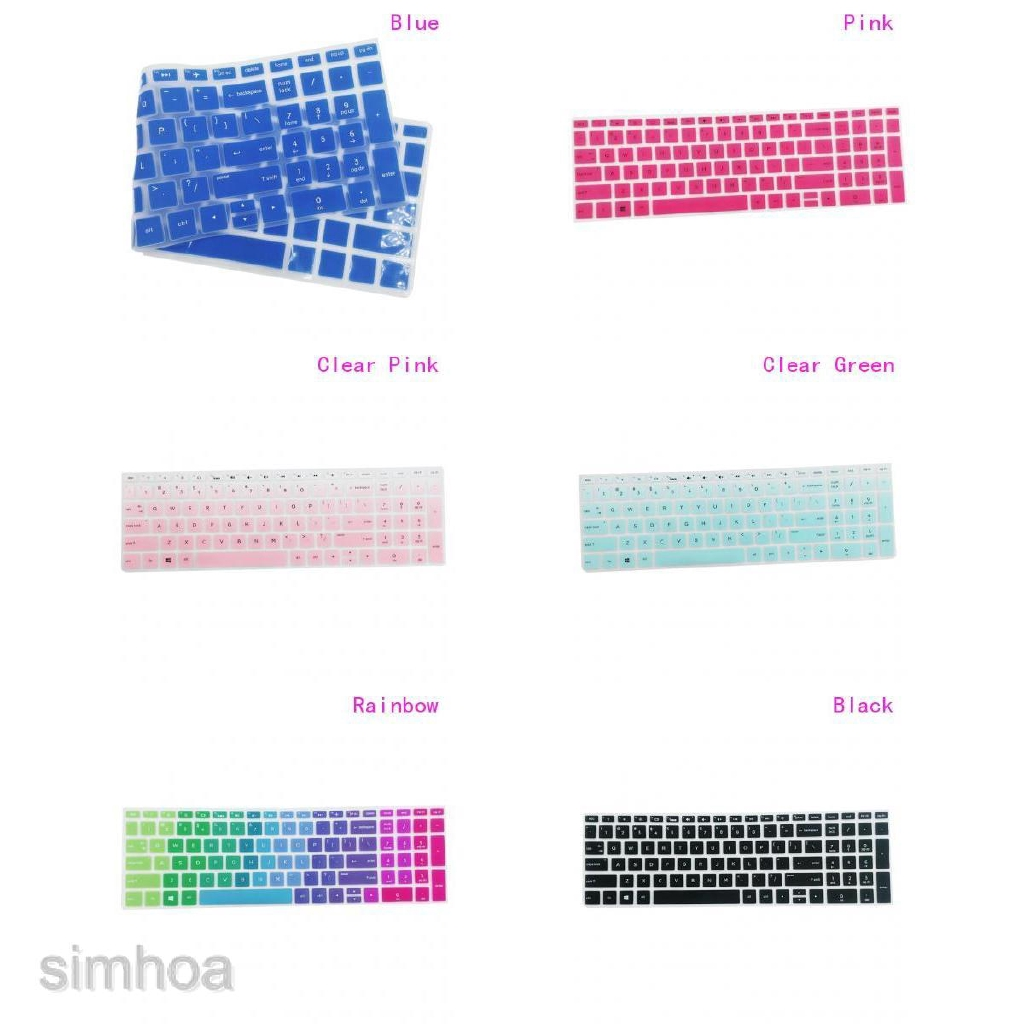 Removable Silicone Keyboard Protector Cover Skin For HP 15.6/'/' BF Black