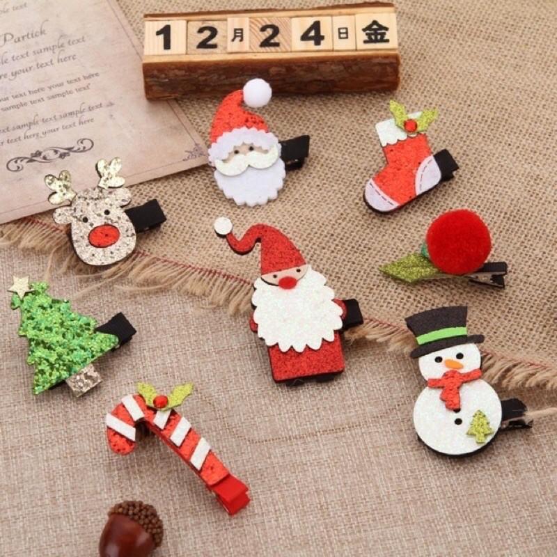 【READY STOCK】2in1 Christmas Design Blink Hairclips