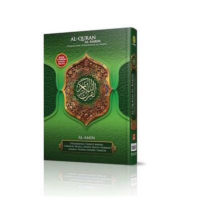 Al-Quran Al Karim Tajwid Dan Terjemahan Al-Amin Hard Cover A4 Tajwid Bewarna Terjemahan Bahasa Malaysia