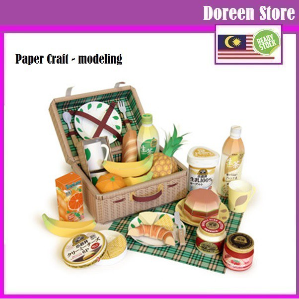 Paper Craft: Outdoor Picnic Set (Paper Model kit)