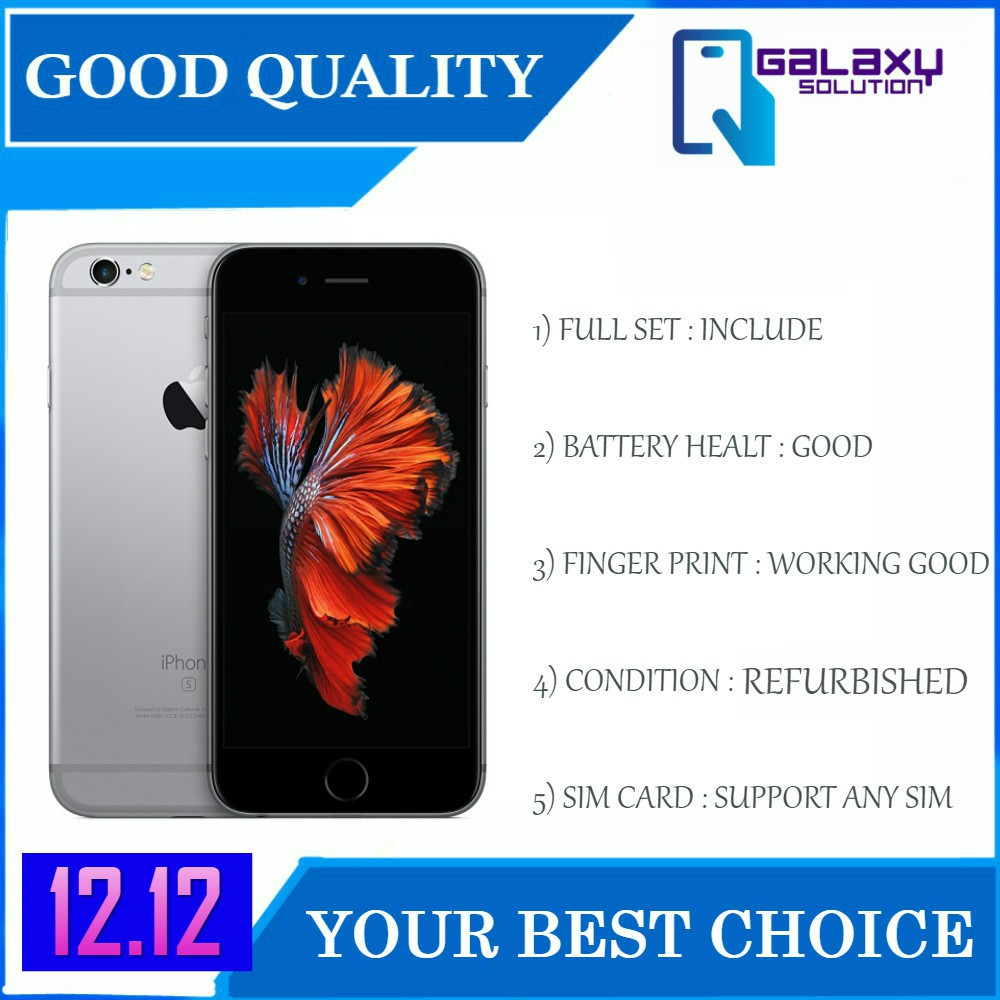 Apple iPhone 6s 128GB (Original Refurbished) (1 Year Seller Warranty)
