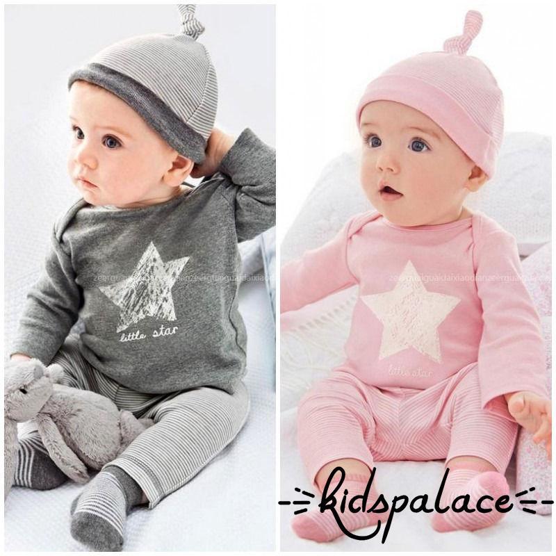 77d9fdd7045b0 ProductImage. ProductImage. PAS-Newborn Toddler Baby Clothes 3pcs Set Tops  Pants Hat Kids Boy Girl Outfits