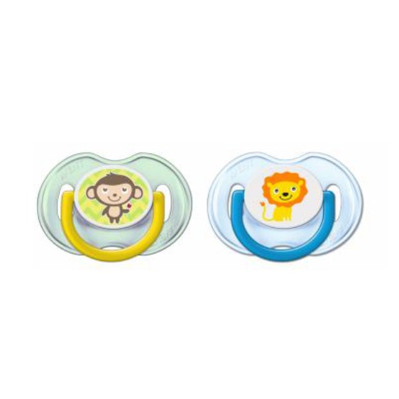 New Pureen Orthodontic Dummy Pacifier Soother /& Clip Nice Owl 6 Months Freeflow