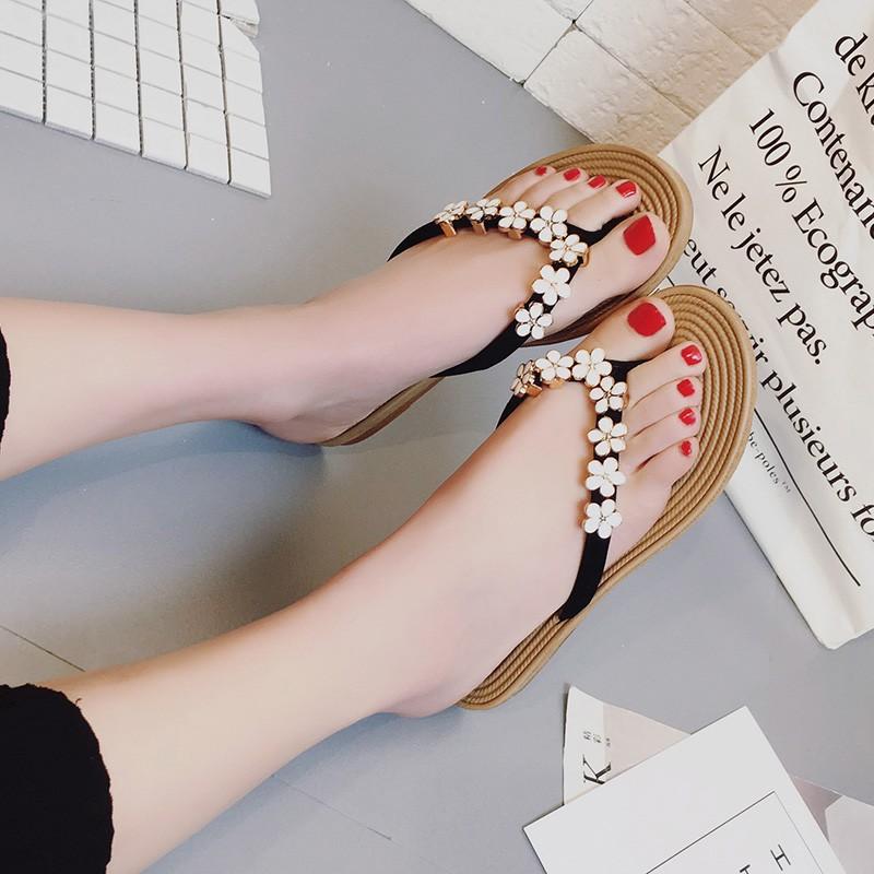 dacdcf868b8 2018 Korean fashion women slipper flat sandals summer beach casual shoes  lady