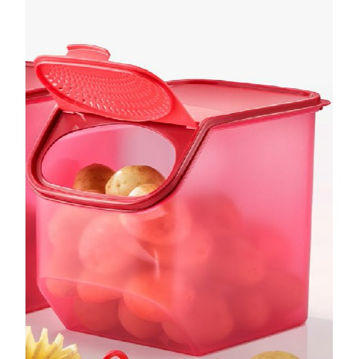 TUPPERWARE 1 PIECES OF GARLIC N ALL LARGE SET 5.5L ONLY / RED COLOR /MERAH