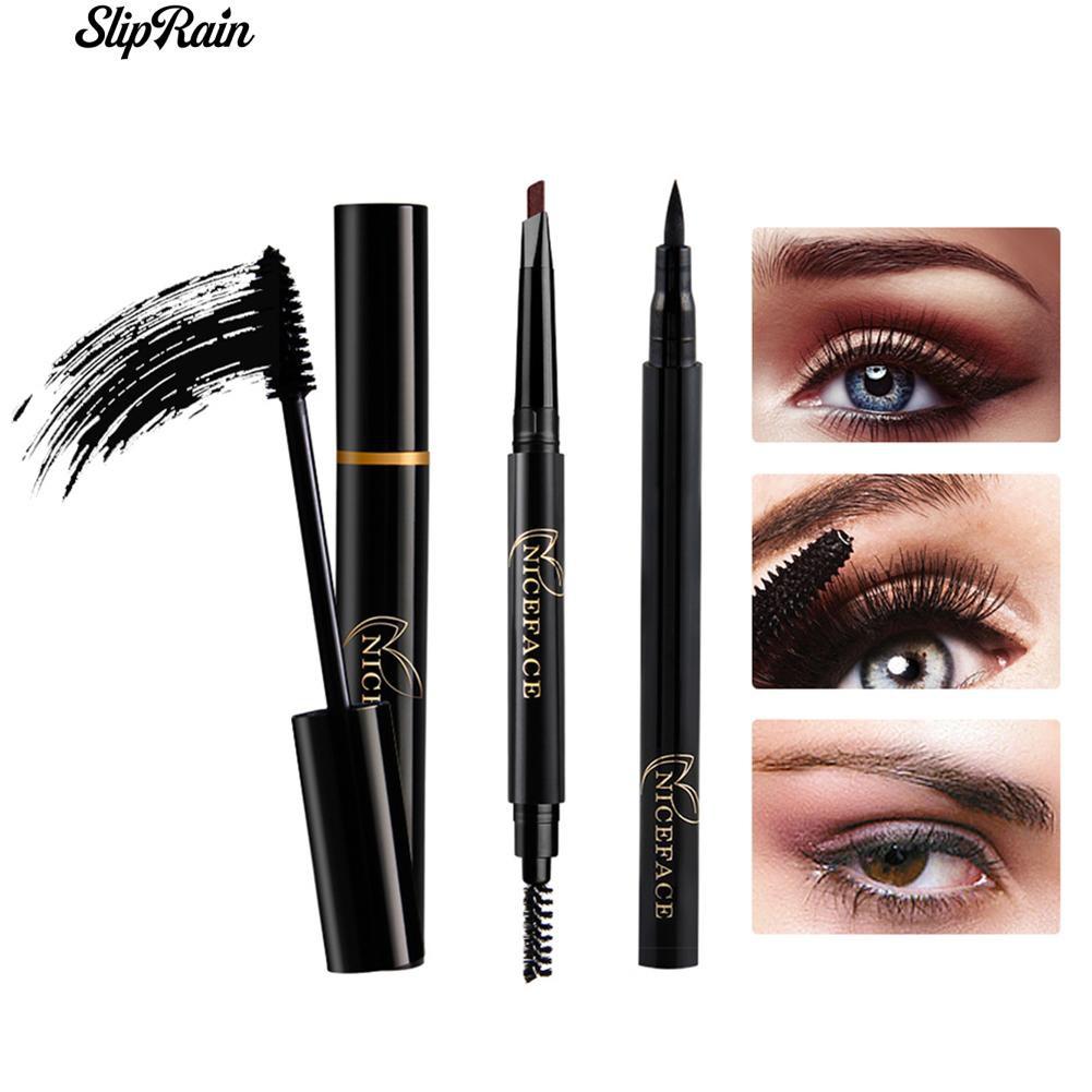 massa Consigliato capo  SlipRain Natural Eye Makeup Set Eyeliner Mascara Eyebrow Pencil ...