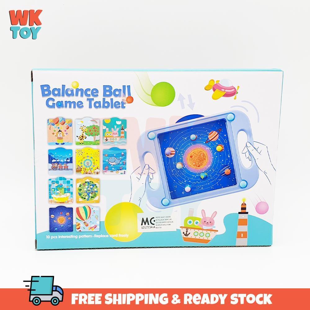 WKTOY Balance Ball Board Game Educational Toy Mainan Budak 平衡 滚珠 玩具