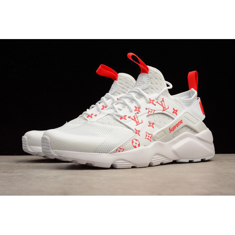 67498426a06f Nike Air Huarache Run Ultra White Supreme X LV Running Shoes ...
