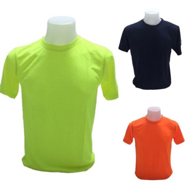 เสื้อออกกำลังกายผู้ชายคอกลม แขนอัดโพลีเฟลกซ์ด้านละสามขีด สีส
