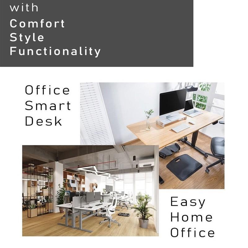 DEKODESK Manual Hand Crank Adjustable Standing Desk Ergonomic Office Study Table