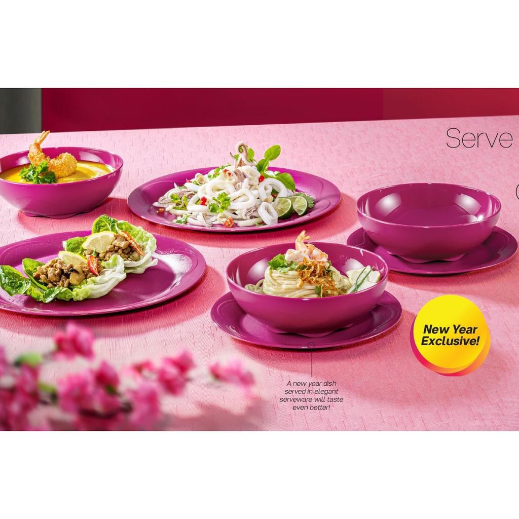 Tupperware 12pcs Camellia Collection Dining Serveware set / Set Pinggan Mangkuk