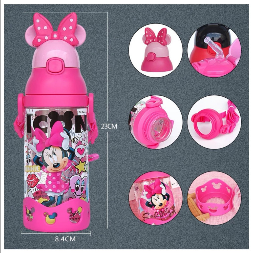 [ READY STOCK ]  400ML Melody Water Bottle Straw Gym Sport Outdoor Leakproof Jualan Murah Kid Baby Air Minuman Kitchen